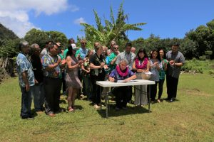 State and community leaders at Hāʻena State Park