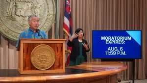 Gov. Ige urges tenants and landlords to use free mediation services.