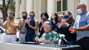 Gov. Ige signs bills to promote electric vehicle adoption in support of the state's clean energy goals.