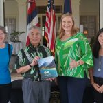 Gov. Ige with Office of Planning and Sustainable Development staff.