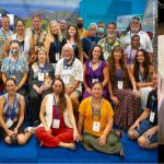 The Hawaii delegation at the 2021 IUCN World Conservation Congress in France. Gov. Ige addresses the Hawaii delegation.